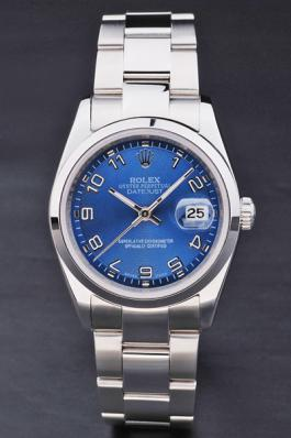 Rolex Datejust Blue Stainless Steel 33mm Men Watch-RD3824