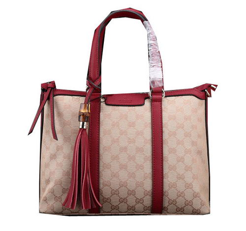 Gucci Rania Original GG Canvas Top Handle Bags 353114 Burgundy
