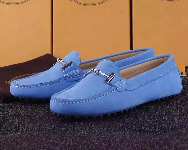 Tods Ballerina Flat Leather TO284 Blue