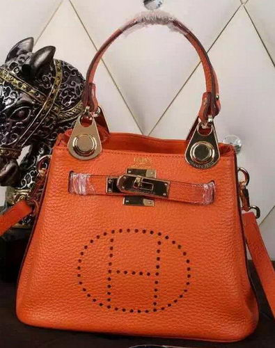 Hermes Evelyne Tote Bag Calfskin Leather HS23 Orange