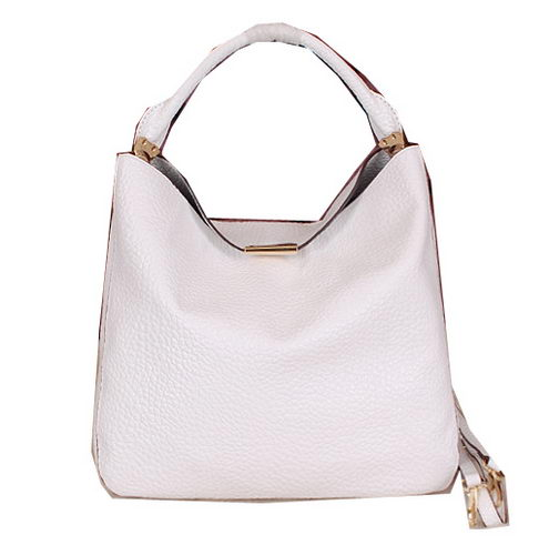 BurBerry Grainy Leather Tote Bag BB7711 White