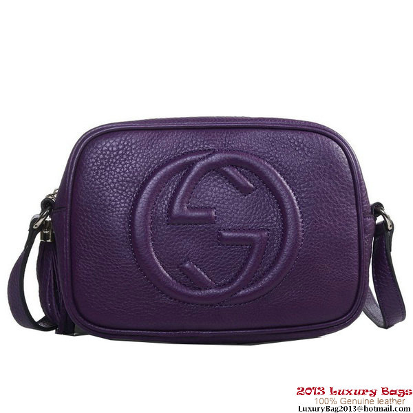 Gucci 308364 Soho Purple Leather Disco Bag