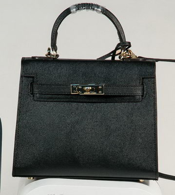 Hermes Kelly 25cm Tote Bag Togo Leather K2138 Black