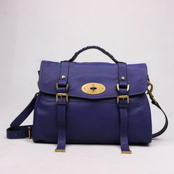Mulberry Shoulder Bags Purple Cow Leather 7539