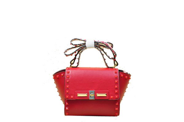Valentino Garavani Rockstud Shopping Bag Original Leather VO809S Red
