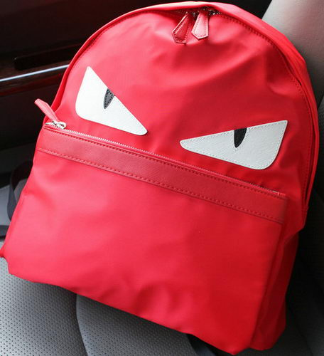 Fendi BUGGIES BACKPACK Nylon FD6617 Red