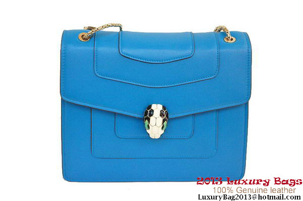 BVLGARI Shoulder Bag Nappa Leather B35292 Blue