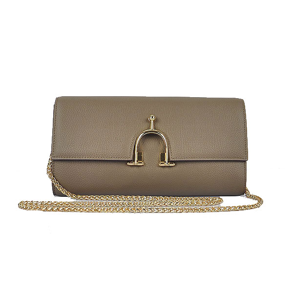 Hermes 2012 Smooth Calf Leather Shoulder Bag Khaki