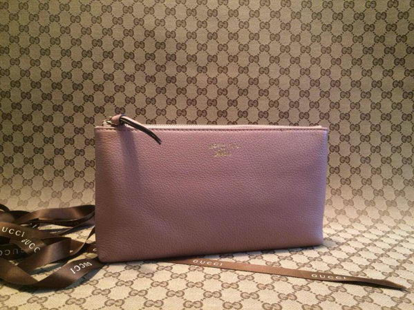Gucci Swing Leather Pouch 368881 Light Pink