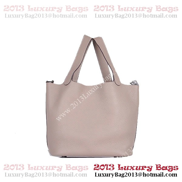 Hermes Picotin Lock MM Bag in Clemence Leather 8616 Gray