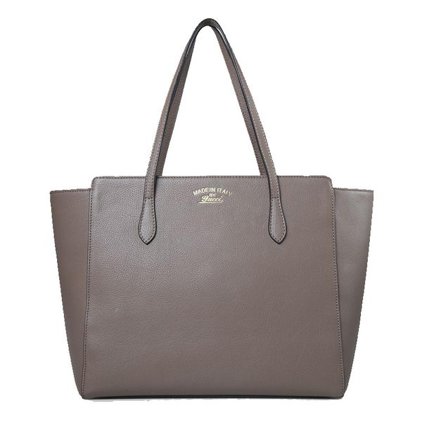Gucci Swing Leather Tote Bag 354397 Khaki