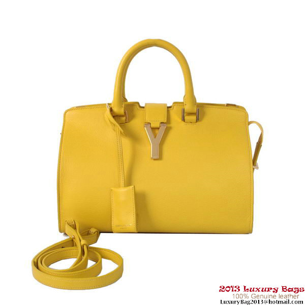 Yves Saint Laurent Small Clafskin Cabas Chyc Bag YSL8336 yellow