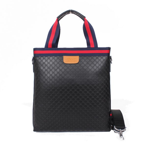 Gucci Guccissima Leather Business Tote 51012 Black
