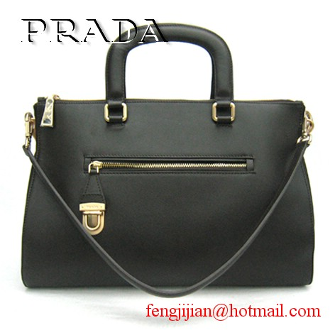 Prada Soft Leather Top Handle BL0662 Coffee