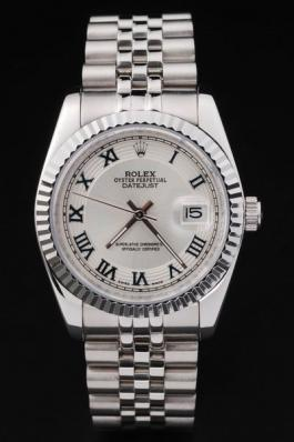 Rolex Datejust Silver&White Surface Cutwork Watch-RD2391