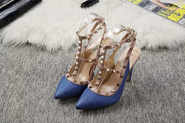 Valentino Lizard Leather Pump VT478 Blue