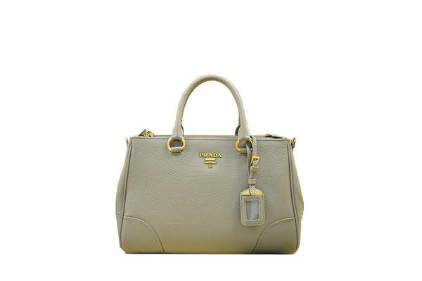 PRADA Grainy Leather Tote Bag BN2324 Gray