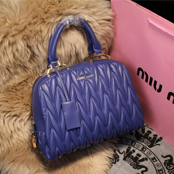miu miu Matelasse Nappa Leather Top-handle Bag M68062 Royal