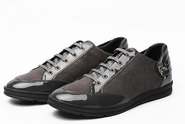 Versace Horse Hair Casual Shoes Versace51 Grey