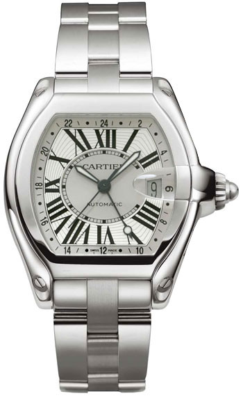 Cartier Roadster GMT Stainless Steel Mens Automatic Wristwatch-W62032X6