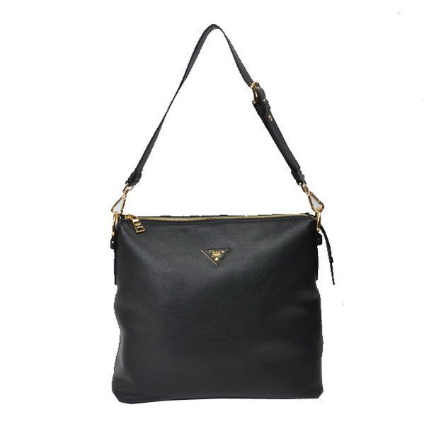 Prada Original Leather Shoulder Bags BR5088 Black