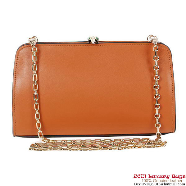 BVLGARI New Serpenti Famed Clutch 3021 Camel