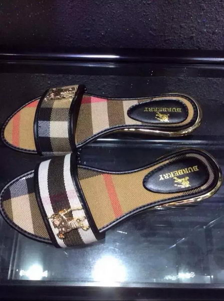 BurBerry Slipper Canvas BUR113 Brown