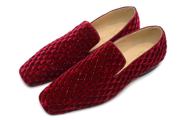 Christian Louboutin Casual Shoes Suede Leather CL885 Burgundy