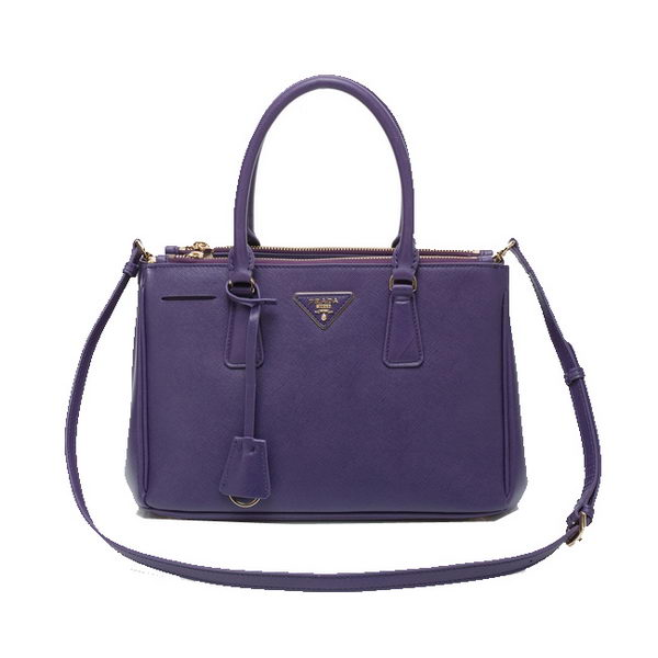 Prada Saffiano Leather 30cm Tote Bag BN1801 Violet