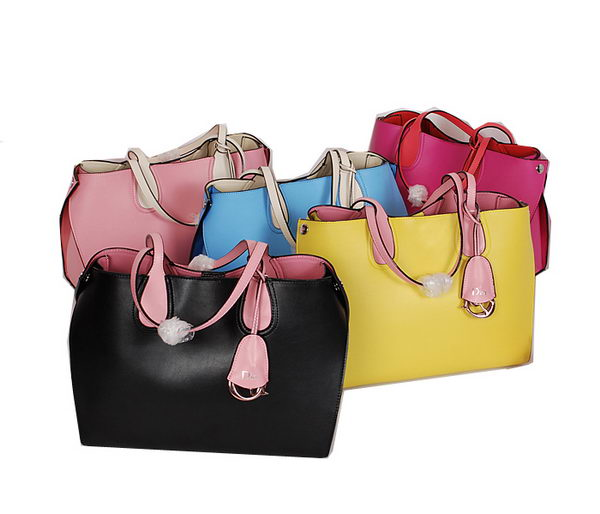 Dior ADDICT Bag Two-Tone Calfskin Leather D9596