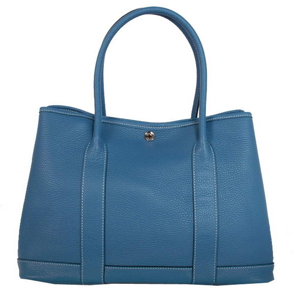 Hermes Garden Party 36CM Bag Clemence Blue