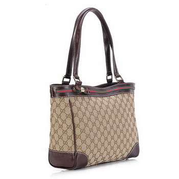 Gucci Mayfair Medium Tote Bag Coffee with Coffee 257061