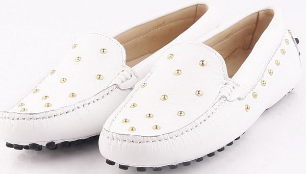 Tods Ballerina Calfskin Leather TO257 White