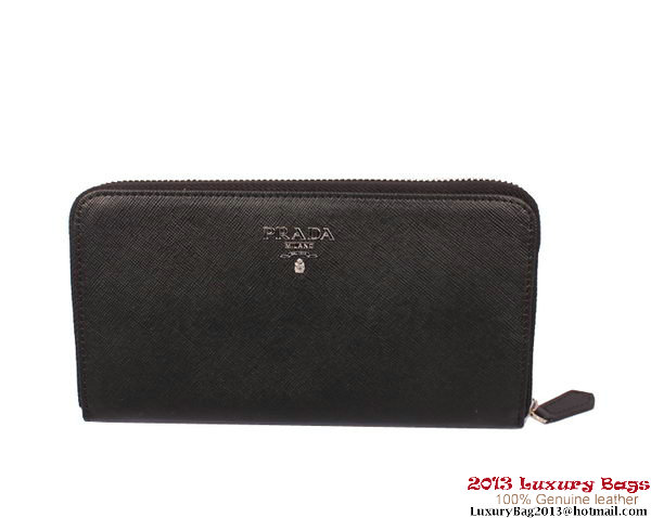 Prada Saffiano Calf Leather Wallet PR20139 Black