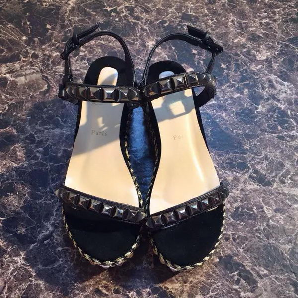 Christian Louboutin 80mm Wedges Sandals CL1507FK Black