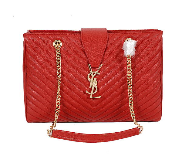 Yves Saint Laurent Classic Monogramme Shopping Bag Y9150 Red