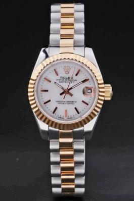 Rolex Datejust Golded White Stainless Steel 25mm Watch-RD3765