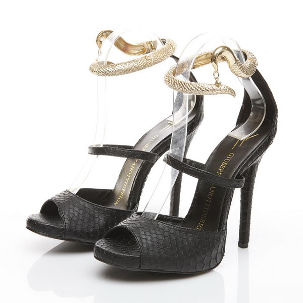 Giuseppe Zanotti Snake Leather 120 mm Sandals GZ0339 Black
