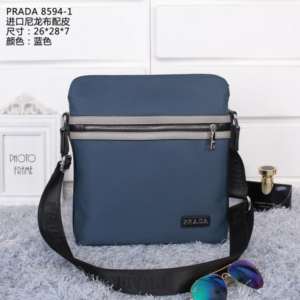 Prada Vela Fabric Messenger Bags P85941 Blue