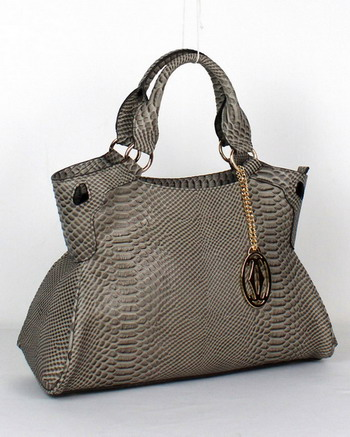 Cartier Marcello De Cartier Snake Veins Tote Bag 1000633 Grey