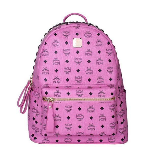 MCM Medium Top Studs Backpack MC4232 Rosy