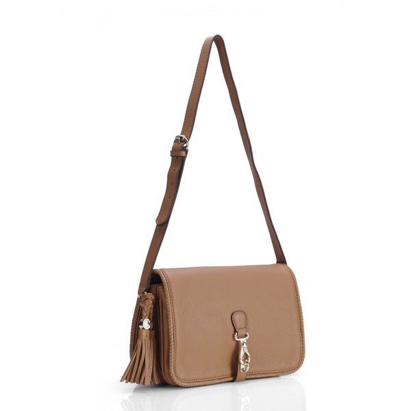 Gucci Marrakech Medium Messenger Camel Bag 257024 Brown