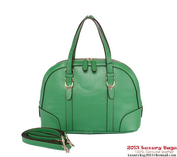 Gucci Nice Small Top Handle Bag Calf Leather 309617 Green