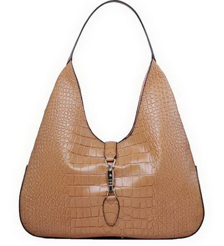 Gucci Jackie Croco Leather Hobo Bags 362968 Wheat