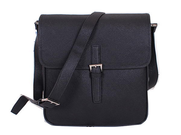 PRADA Original Saffiano Leather Messenger Bag VA3083 Black