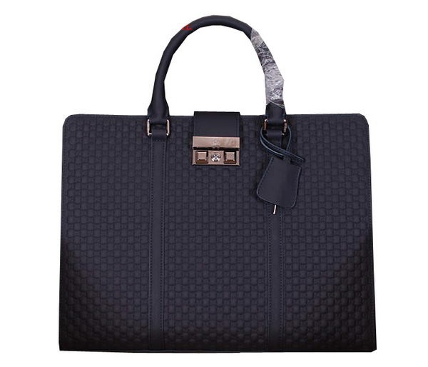 Gucci Guccissima Leather Business Briefcase 20641 RoyalBlue