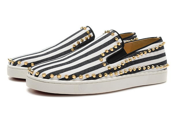 Christian Louboutin Casual Shoes Canvas CL842 Black&White