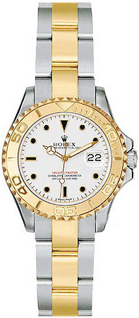 Rolex Yachtmaster Series Elegant Ladies Automatic 18kt Yellow Gold Unidirectional Rotating Wristwatch 169623-WSO