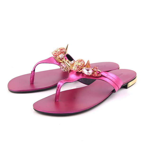 Prada Calfskin Leather Sandals PP10 Rose