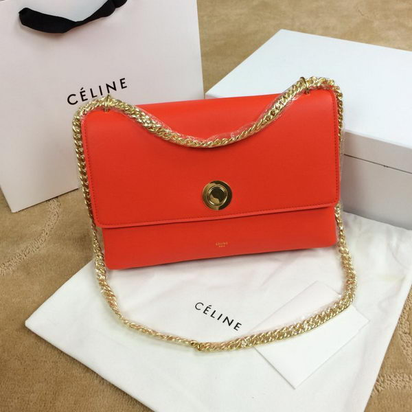 Celine Pocket Flap Bag Original Leather C96556 Orange